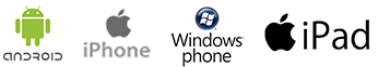 Android, iOs, Windows phone, iPad